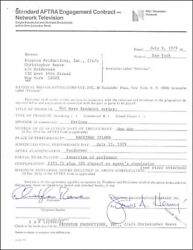 CHRISTOPHER REEVE - CONTRACT SIGNED 07/06/1979