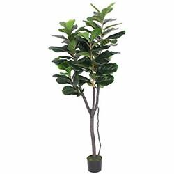 Gorgeous 6 Feet Fiddle Leaf Fig Tree Artificial Silk Plant UV Protection Pre