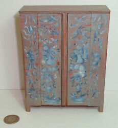 Vintage Roger Gutheil Dollhouse Miniature Painted Cupboard Museum Piece 2 Made