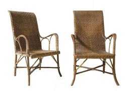 Pair Of The Most Beautiful And Rare French Garden Chairs Made In The 20and039s France