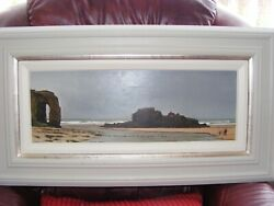 Large Framed Original Oil Painting by Peter Brook Titled 'Danger' 7