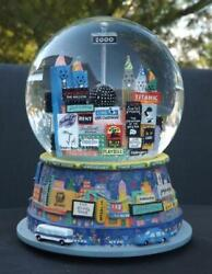 2000 Broadway Cares Snow Globe New York Times Square Twin Towers Bloomingdales