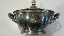 Vintage 1920s The Stevens Hotel Gravy Tureen Wallace Silver Plate 16oz 8x5 1/2