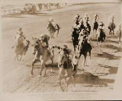 Original Kentucky Derby 1947 action still from BLACK GOLD with Anthony Quinn