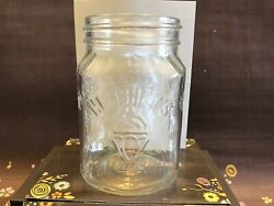 Hershey's Chocolate Shoppe Round Clear Glass Topping Jar With A Lid, Euc