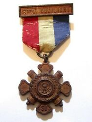 Antique Sons Of Veterans S Of V Auxiliary Civil War Ribbon Badge Pinlatind631