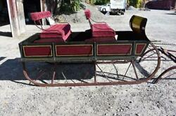 Antique Horse Sleigh 2 Seat Box Sled With High End Restoration Holiday