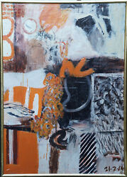 JACK KNOX SCOTTISH 1964 ABSTRACT EXPRESSIONIST ART OIL PAINTING RSA EXHIBITED