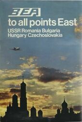 Vintage Bea Flights To Eastern Europe Airline Poster A4/a3/a2/a1 Print