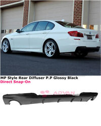 For 11-16 Bmw 5 Series F10 535i W/ M Sport   Mp Style Glossy Black Rear Diffuser