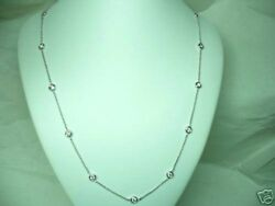 1.18carat Diamond By The Yard Necklace 14kt White Gold