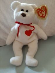 Rare - Valentino Ty Beanie Baby- 4058 With Mismatched Tags And Brown Nose