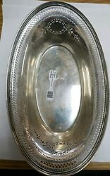 Sterling Silver Candy Serving Dish 334.3 G 10.5 By 6.5 Inches Ef Dn