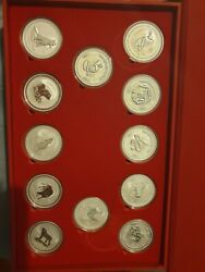 1oz Series 1 Lunar Set Of Silver Coins As Shown
