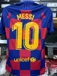 Nike Fc Barcelona Home Jersey Authentic On Field 19 /20 10 L.messi Size Xl Only