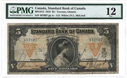 The Standard Bank Of Canada 5 1919 . A Good Banknote Pmg 12