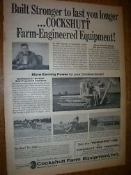 Vintage Cockshutt Co Advertising - Tractors And Implements - 1960