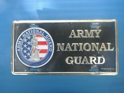 Army National Guard Vintage Metal Front Booster License Plate Tag