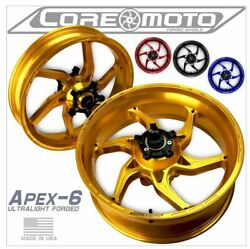 Apex-6 Yamaha Fz09 Non Abs 2014-2017 Forged Core Moto Wheels Set Of 2