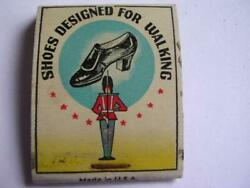 1930's British Walkers Shoes Diamond Book Matches Made In U S A Empty Matchbook