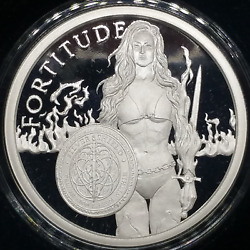2019 1oz Fortitude Proof Silver Shield 4 Cardinal Virtues Series 4