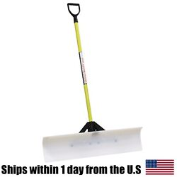 The Snow Plow 36 Snow Shovel 50536 - Poly Blade D-handle Snow Pusher Commercial