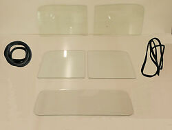 Glass 1947-1950 Chevy Gmc Pickup Clear Windshield Door Back Gaskets W/o Chrm