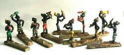 Heyde 10 African Ghana Ashanti Tribal Figures Gold Weights Knife Rests Lead Toy