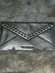 Silver clutch with rhinestones $30.00