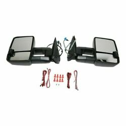 New Pair Of Power Mirrors With Smoke Signal For Chevy Silverado 1500 2003-2006