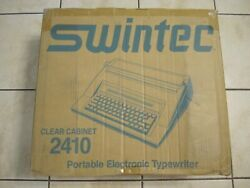 Swintec 2410 Clear Cabinet Electronic Typewriter Brand New
