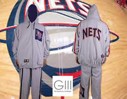 G Iii Carl Banks Menand039s New Jersey Nets 2 Pc. Warm Up Suit Size 3 Xxl