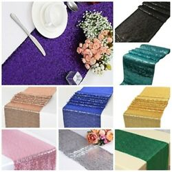 Glitter Sparkly Sequin 6ft Table Runner 12x108 Wedding Party Deco 30 X 275 Cm