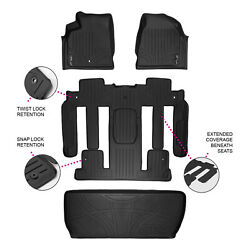 All Weather Floor Mats Set And Cargo Liner For Chevy Suv With Bucket Seats Black