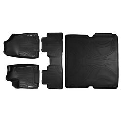 All Weather Floor Mats Set 2 Rows And Cargo Liner Bundle For Mdx Black