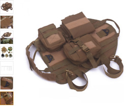Hunting Dog Army Tactical Training Vest With Three Bags - Mud M