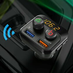 Bluetooth Fm Transmitter Wireless In Car Radio Mp3 Player Usb Charger Handsfree