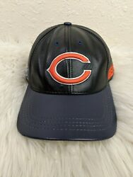 Vtg Logo Athletic Chicago Bears Nfl Leather Hat All Embroidered Cap Made In Usa