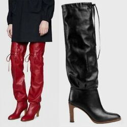 Women's Knight Riding Over The Knee High Boots Round Toe Casual Shoes Size 34-43