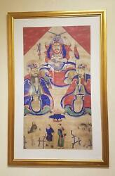 A Framed Taoist Temple Painting, Shanxi China, Qing Dynasty