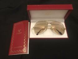Auth Sunglasses Vintage Metal Frame W/box Case Used From Japan F/s