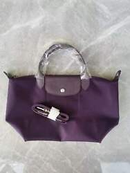 France Made Longchamp Le Pliage Neo Small Handbag Bilberry Auth Special Offer