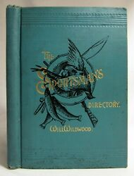 Antique 1891 The Sportsman's Directory Dogs Hunting Fishing Guns Bicycles Sports