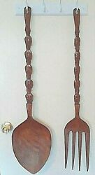 Collectibles Handmade Unique Spoon And Fork Wall Tiki Decoration