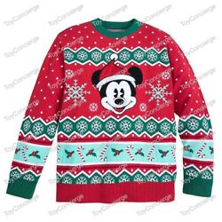 Disney Store Christmas 2019 - Sweater For Men - Mickey Mouse - Holiday - Nwt
