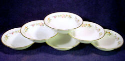 6 Mint Wedgwood Mirabelle Coupe 6 Cereal Bowl Set Lot Bone China England R4537