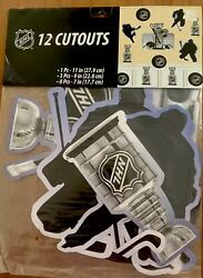 New NHL Hockey 12 CUTOUTS Party Wall Hanging Decorations Party Supplies Birthday