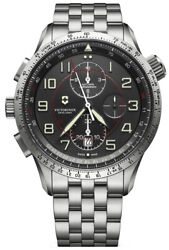 Watch Man Victorinox Airboss V241722 Of Stainless Steel Silver Plated
