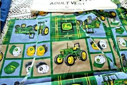 John Deere Vest And Flannel Lining Fabric Kit Adult 100 Cotton Flannel