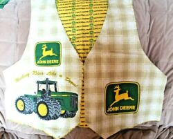 John Deere Vest And Yellow Flannel Lining Fabric Kit Adult 100 Cotton Flannel